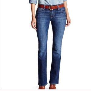 Joe's Jeans Petite bootcut distressed denims